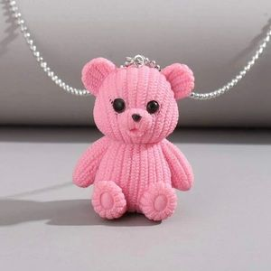Jewelry - Pink bear necklace